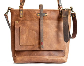 Leather Tote Bag | Leather Bag | Leather Purse Crossbody | Made in USA