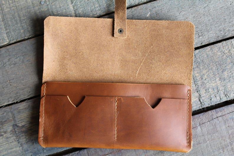 Leather Wallet Minimalist Wallet Travel Wallet
