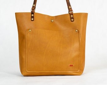 Clearance | Leather tote  | Made in USA | Honey Medium Tote Bag | 029
