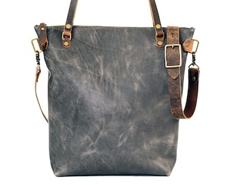 Made in USA | Classic Leather Tote Bag | Handmade Leather Purse | Large Leather Handbag