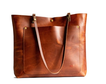 Leather Tote Bag | Leather Purse | Crossbody Bag | Made in USA