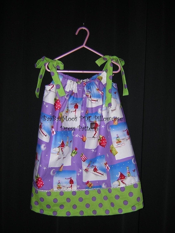 Pillowcase Dress Pdf Easy Instructions 3m To 6y Etsy