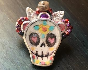 Sugar Skull Pin and pendant