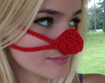 NOSE WARMER, Red, by Aunt Marty. Don't look like Rudolph's cold nose!, Warm your nose now, get in the Christmas Spirit,