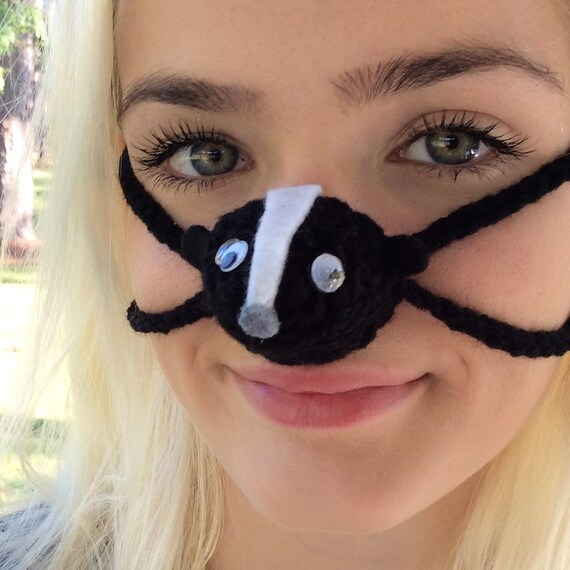 Silly Skunk Nose Warmer Nose Cozy Nose Mitten Unisex Teen Etsy