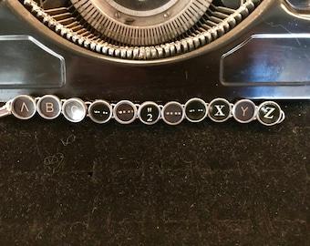 ABC - XYZ Vintage Typewriter Keys Bracelet