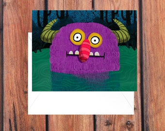 A2 Monster greeting card \ Blank card \ greeting card