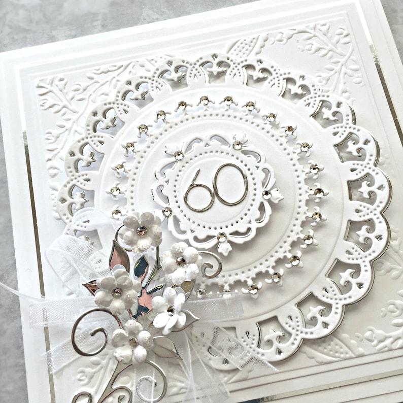 60th anniversary card personalized for diamond anniversary