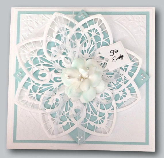 Fancy Birthday Card For Her Personalized Handmade Keepsake