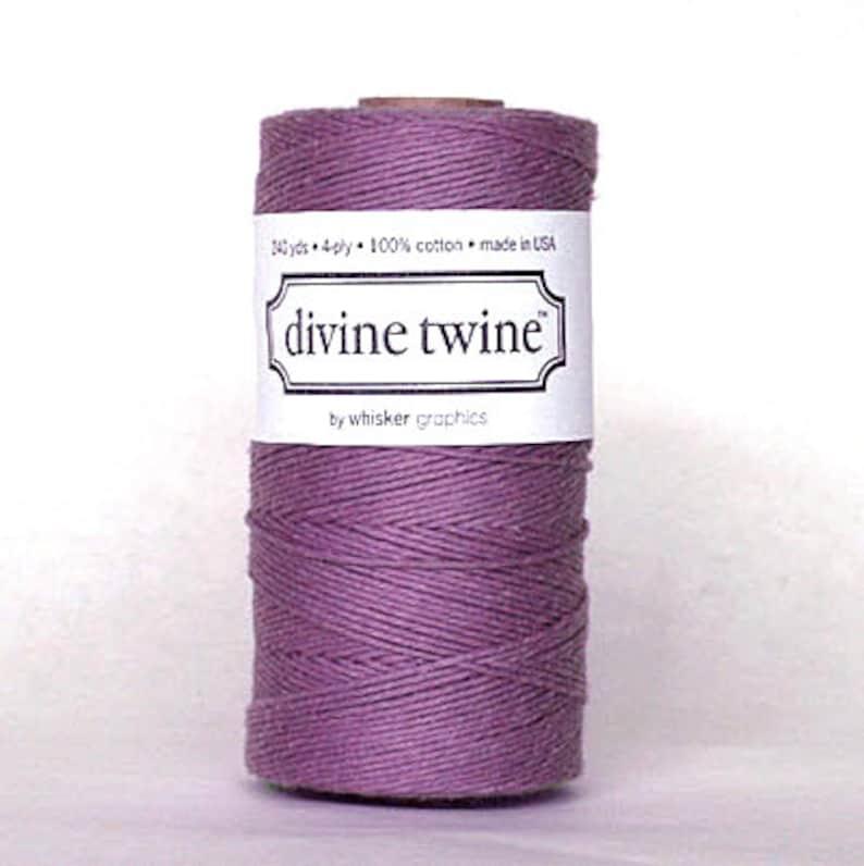 240 Yards Purple Baker/'s Twine 720 Feet Divine Solid