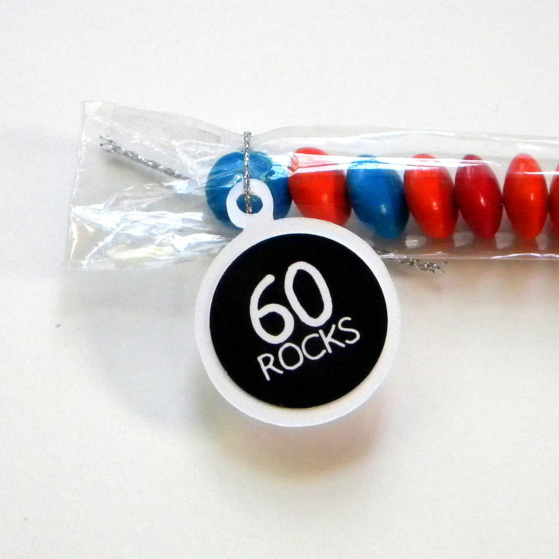 60th Birthday Candy Treat Bag Favors Set Of 12 60 Rocks