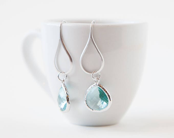 Azure blue drop earrings