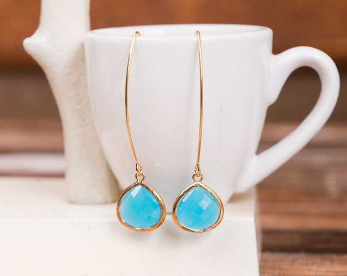Ocean blue drop earrings