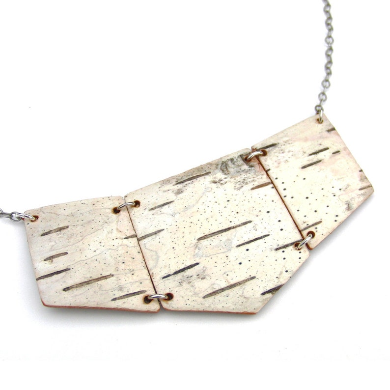 Birch bark necklace Coterie image 0