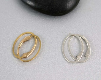 Leverback Earrings - Gold Filled and Sterling Silver- Leverback Earrings - 17mm