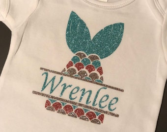 Mermaid Tail Personalized Tee