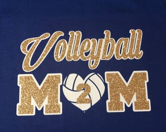 Volleyball MOM Blingy Tee