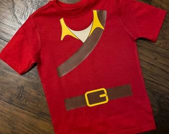 Gaston Costume Shirt Infant-adult sizes