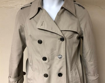 cfe02151caf Vintage Sears double breasted gray trench coat