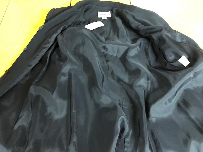 new old stock 12P 3 button front under placket Vtg John Meyer of Norwich rich dressy dark blue blazer jacket