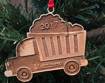 Personalized Toy Truck Christmas Ornament DEADLINE DECEMBER 16 for Christmas Delivery