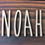 Custom Word, Personalized Wooden Name/Word, Wooden Name, Fun Print Word, Room Decoration, Nursery, Wall hanging, Unfinished Wood, Script