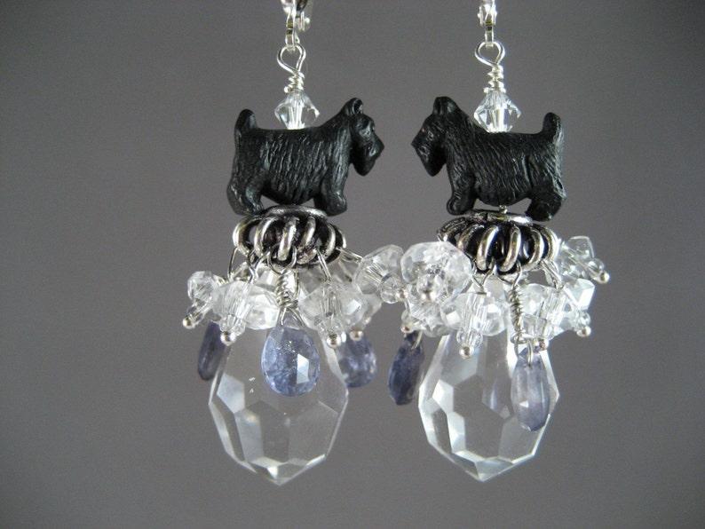Enchanted Periwinkle Iolite and Clear Quartz OOAK Scottie image 0