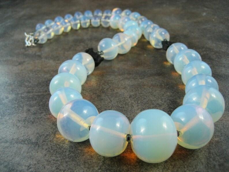 Sea Opal Opalite OOAK Scottie Necklace  112s image 0