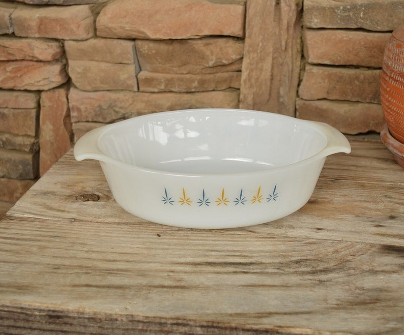 Vintage Fire King Candle Glow Oval Casserole
