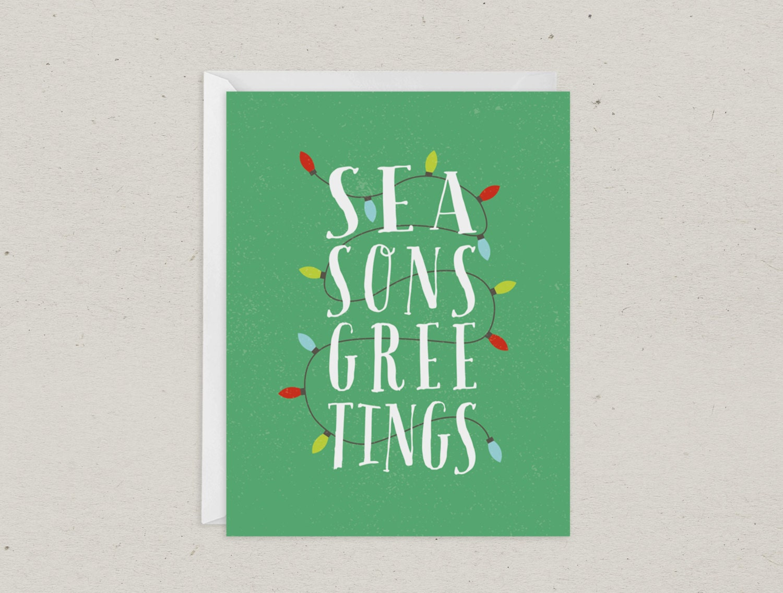 Clearance Christmas Card Seasons Greetings | Etsy