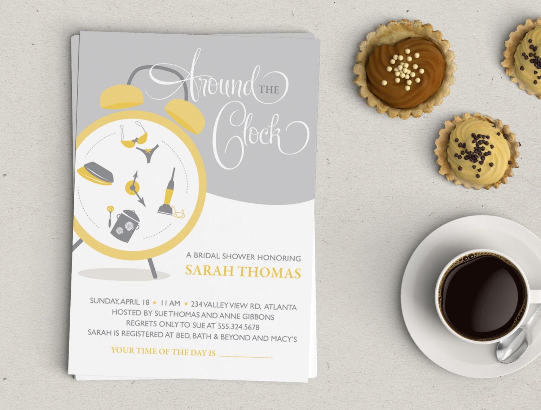 Around the Clock Bridal Shower Invitation | Etsy
