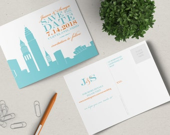 Cleveland Save the Date Postcard
