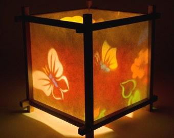 Rotating lamp etsy butterfly flowers harmony lantern aloadofball Images