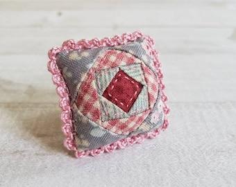 Miniature Patchwork Throw Pillow - Fits Medium Bed - Nantucket Spring