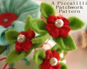 Decorative Pin Tutorial - PDF INSTAND DOWNLOAD - Bitty Blossom Pin Toppers