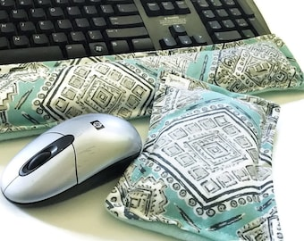 Office Desk Accessories Set, Cubicle Care Package Work Gift, Ergonomic Computer Wrist Rest for Keyboard, Geekery Gift