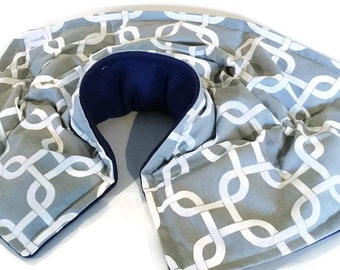 Unscented Neck Shoulder Pain Relief Wrap, Microwave Hot Pack for Relaxation, Pain and Stress Reduction
