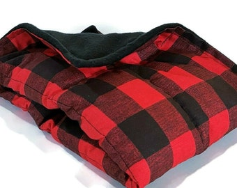 Extra Large Microwave Heating Pad as Christmas Gift in Red Plaid