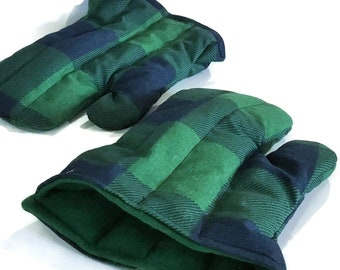 Flax Seed and Rice Microwavable Hand Mittens, Rice Warmer Heating Pad for Entire Hand You can Wear