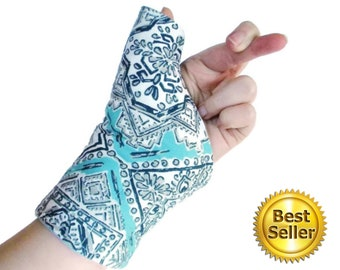 Reusable Wrist and Thumb Wrap for Right or Left Hand, Custom Adjustable Fit, Use Hot or Cold