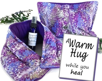 Get Well Gift Set | Comfort Care Package for Surgery, Illness, Recovery | Hot Cold Packs, A Warm Hug Gift