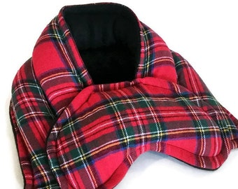 Christmas Heating Pad Set, Red Plaid, Hot Cold Compress Clever Gift Idea