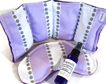 PMS Survival Kit for Cramps Relief and Puffy Face,  Natural Herbal Microwave Heating Pads and Ice Packs
