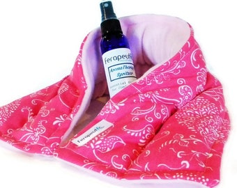 Hot Cold Pack for Neck, Lavender Peppermint Sinus, You choose scented spray