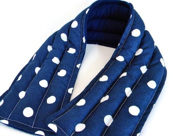 Extra Long Microwave Neck Heat Bag for Improved Circulation, Inflammation and Muscle Ache Relief