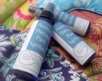 Lavender, Peppermint, Sinus aromaTHERAPY Pack Spritzers for microwavable hot / cold pads - all natural essential oils