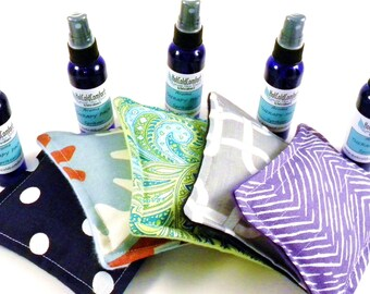 Five Dream Pillows, Bulk Sleep Pillows Aromatherapy Spray, Stocking Stuffers, Gift for Teachers, Coworkers, Herbal Sachet Wholesale Pillows