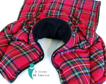 XL Flannel Heating Pad for Microwave, Shawl Cape Warmer, Long Lasting Reusable Hot Pack