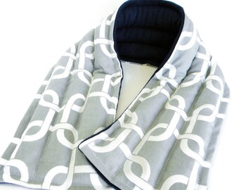 Long Lasting Neck Heating Pad, Reusable Reheatable, Bean Bag Style Heated Neck Wrap