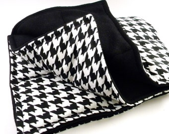 XL Microwave Heating Pad, Large Heat Pack, Hot Pack Cold Pack, Throw Blanket, Rice Bag Heat Bag, black white warmie warmy